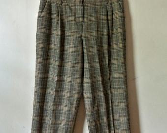 Vintage Pants Plaid Slacks Bloomingdale's Size 4 Gift For Women