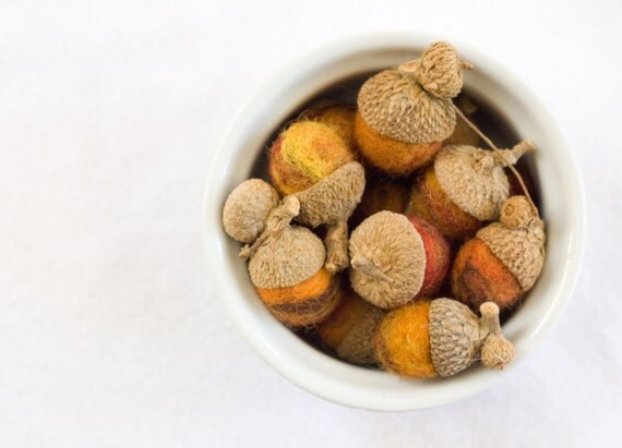 Autumn Colors Felted Acorns