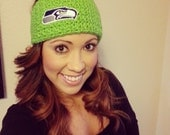 Seattle Seahawks crocheted headband