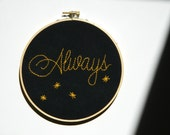 Always embroidery hoop wall art