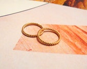 Small Gold Upper Knuckle Ring / Dainty Ring (Pack of 2)