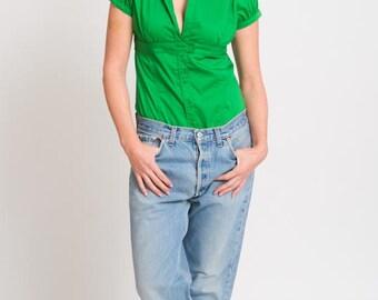 50% OFF SALE 1980's Blue Levis 501 Jeans - Vintage 80s Blue Jean Pants High Waisted Unisex Denim Red Tab Men Trousers Size Waist 34 Lenght 3