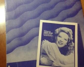 I'll Walk Alone Vintage Sheet Music Dinah Shore Music from I'll Follow the Boys