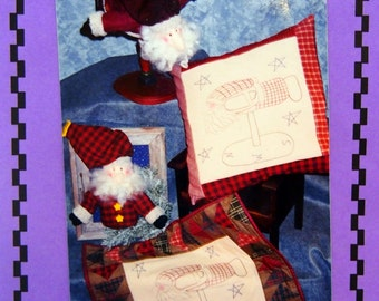Mr. Kringle 18 Inch Weathervane By Susan Marsh And Whistlepig Creek Productions Uncut Sewing And Embroidery Pattern 1998