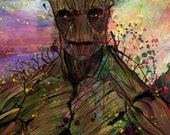 "I Am Groot! Abstract Art Canvas, available in sizes 16"" x 24"" or 20"" x 30"""