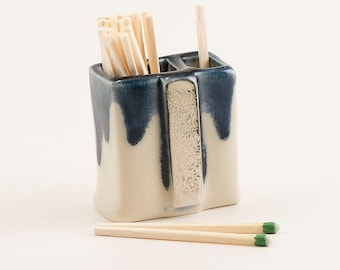 """CERAMIC MATCH STRIKERS   store, strike & snuff your """"strike anywhere matches""""  with this pretty ceramic art piece."""