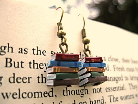 Stack of Books Earrings | Bibliophile Gift Guide