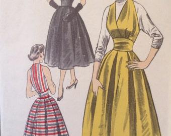 1950s Halter Dress, Vintage Advance 6320 Sewing Pattern, 1950s Dress Pattern, Marilyn Monroe Style, Bust 32, Full Skirt 1950s Sewing Pattern