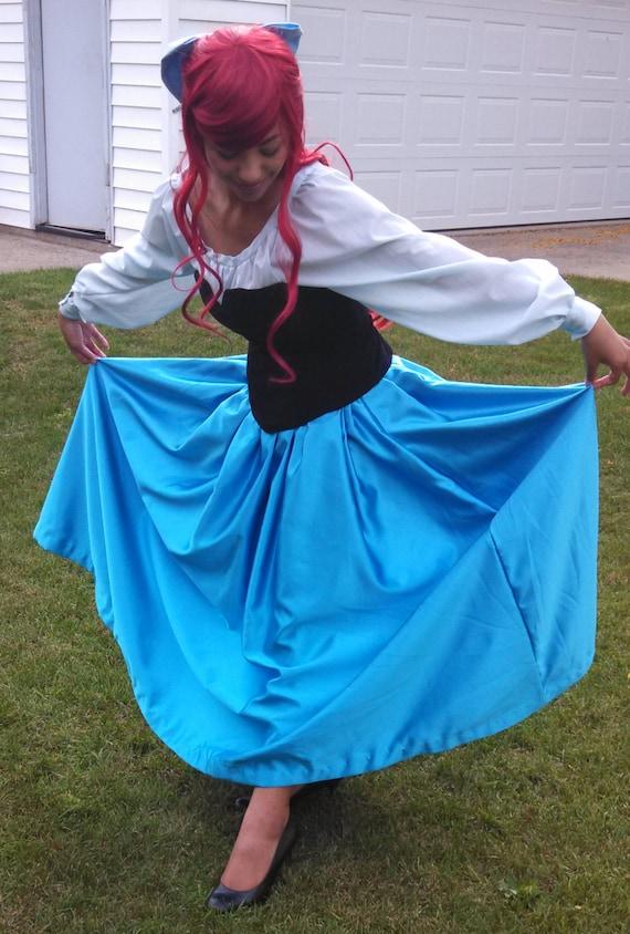 Little Mermaid Blue Dress The Little Mermaid Ariel Blue