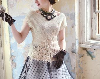 bridal top - romantic blouse - crochet for sale