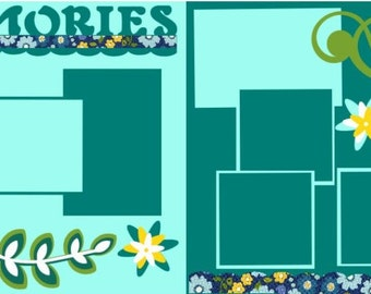 "Scrapbook 2 Page Kit ""Memories"""
