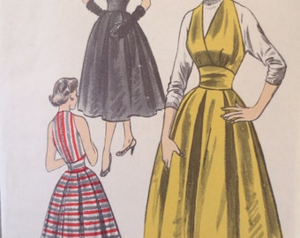 1950s Halter Dress, Vintage Advance 6320 Sewing Pattern, 1950s Dress Pattern, Marilyn Monroe Style, Bust 32, Full Skirt 1950s Sewing Pattern