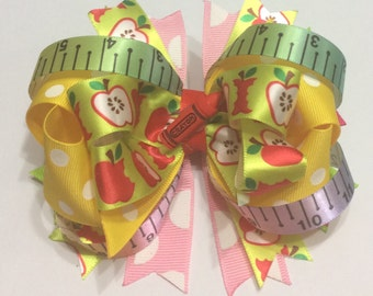 Girls Back To School Boutique Bow