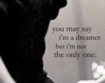 john Lennon Dreamer  Rare Poster