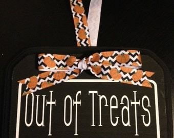 Out of Treats Halloween Door Hanger