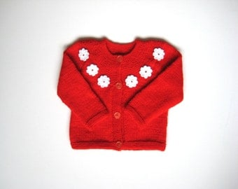 Handmade Knitted Baby Girl Cardigan