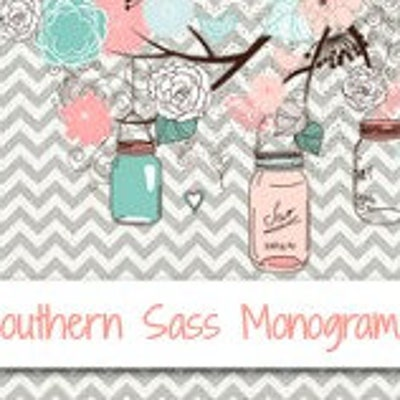 Southern Sass Monograms on Etsy