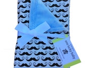 I MUSTACHE You a Question Minky Baby Blanket