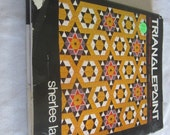 """Hardcover book """" Trianglepoint: From Persian Pavilions to Op Art with one stitch""""  by Sherlee Lantz"""