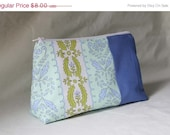 FINAL SALE - Blue Stripe Make-Up Bag