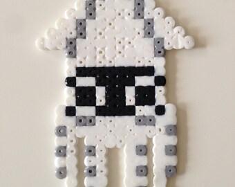 Blooper from Super Mario Bros. Fuse Bead Pixel Art