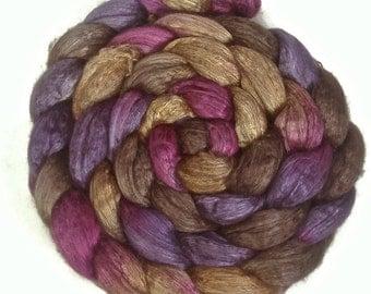 Handpainted Yak/Silk Roving - 4 oz. CROCUS - Spinning Fiber