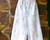 Upcycled  Pillowcase Pajama/Lounge Pants to fit Woman XS-2XL