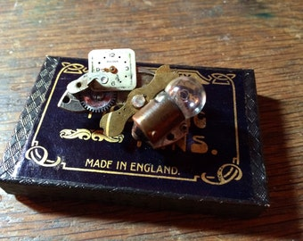 The Little TriBionic Assisator That Could Steampunk Brooch