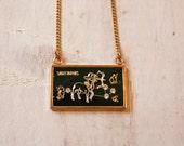 Sagittarius Zodiac Constellation Necklace / Vintage Necklace / Gift /