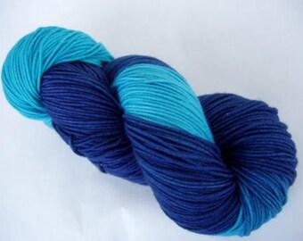 Hand painted merino superwash yarn, handpainted merino yarn, NAUTILUS, sport weight yarn, machine washable yarn, sock yarn, 3.5oz/100g