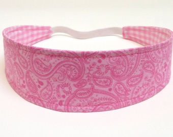 Girls Childs Childrens Headband  -  ANGELA  -  Reversible Fabric