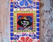 Day of the Dead Catrina Mosaic Art Nicho Retablo