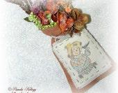 Scarecrow Hanging Decoration, Primitive Fall Decor, Hanging Floral Arrangment, Scarecrow, Halloween, Orange, Autumn Decor