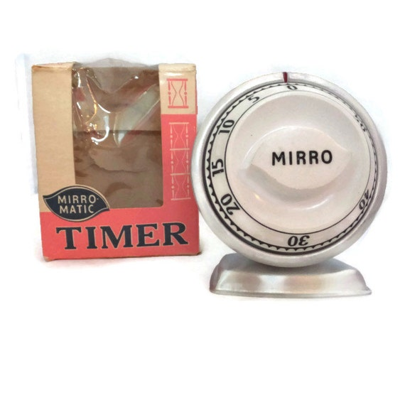Vintage Mirro Matic Kitchen Timer 1950s Kitchen Collectible