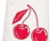 NEW organic cherry tea towel