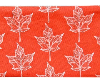 NEW maple leaf zippered pouch
