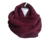 Oxblood Infinity Scarf Maroon Burgundy Marsala Wine SAMANTHA Made to Order