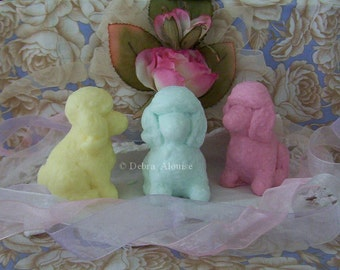 French Poodle Dog Original Handmade Pet Silicone Soap Mold DIY Craft Molds