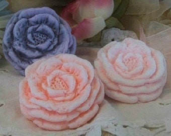 Peony Spring Flower Silicone Soap Mold