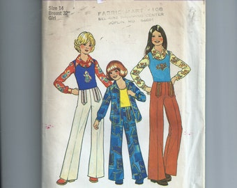 Simplicity Girl's Shirt, Pullover Top and Pants Pattern 7201