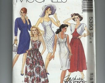 McCall's Misses'  Jacket, Dresses and Sash Pattern 5393