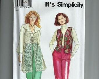 Simplicity Misses' Vest Pattern 9136