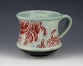 RESERVED for LaughingMoonCreations-Chrysanthemum Mug