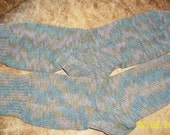 Hand knit socks stockings knitted corn fiber nylon Great for those allergic to wool, dyed , men women teal gray brown OS