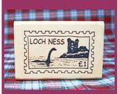 Small Nessie Postoid Rubber Stamp Loch Ness Monster Scotland #802