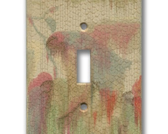 Abstract Landscape Watercolor 1930's Vintage Wallpaper Single Switch Plate