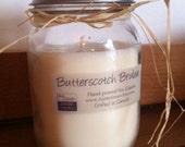 Butterscotch Brulee - 16 oz Mason Jar Soy Candle