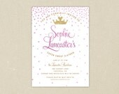 Party Invitations: Sweet Sixteen 16 Glitter Pink and Gold