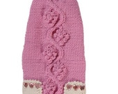 Dog clothes - Pet clothes Made to measure  - pet sweater - hand knitted - other colors are possible