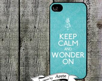iphone 6 case Alice in Wonderland iPhone case, Keep Calm and Wonder On - iPhone 5, 5s Case - iPhone 4,4s - Galaxy s3 s4 s5